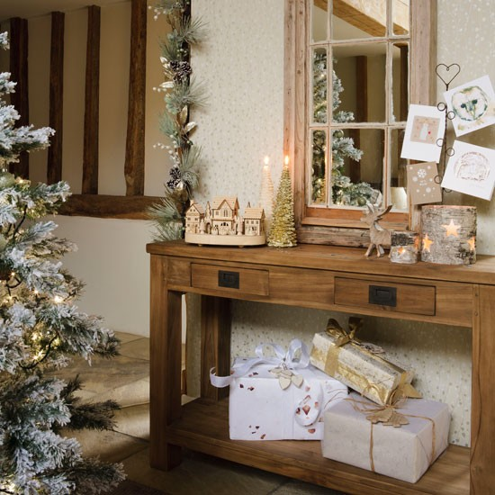 1 Console Table And Tree In Hall Hall Photo Gallery