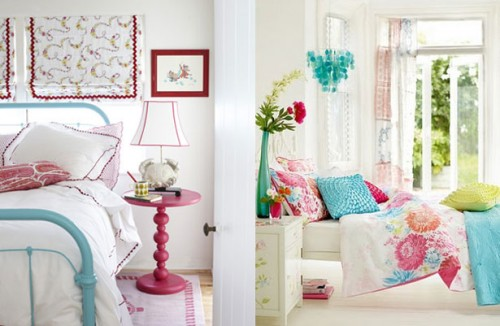 Turquoise Pink And White Bedroom - home decor photos gallery