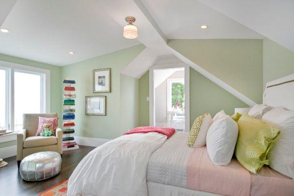 Attic Pale Green Bedroom