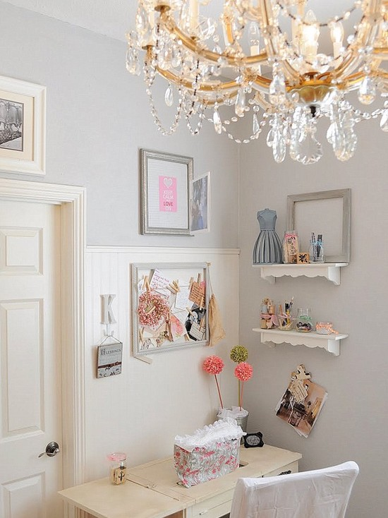 Shabby chic home office emerald interiors blog for Home decor blogs