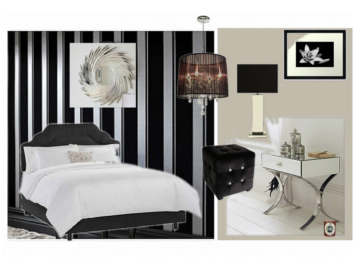 Mood Board Bedroom Interior Design
