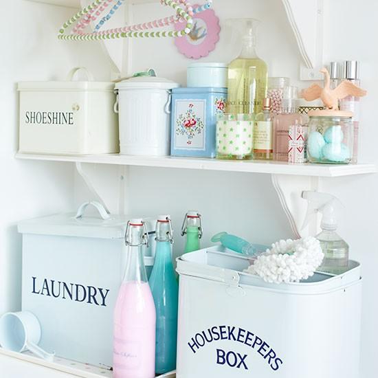 pastel shabby chic utility room