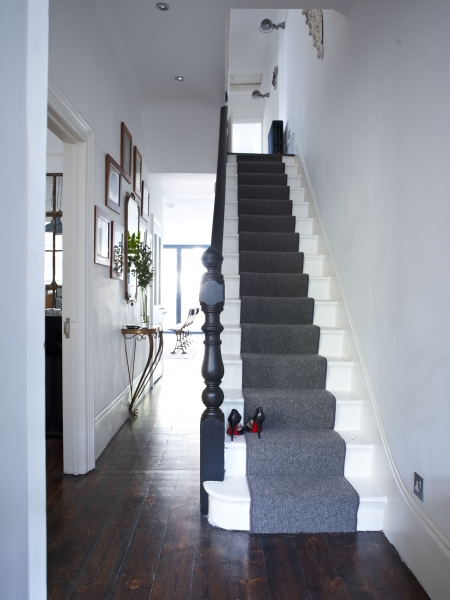 Narrow Dark Entryway : Give your hall personality emerald interiors