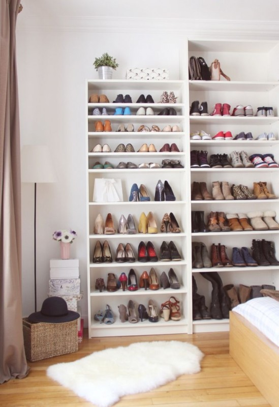 billy bookcase shoe storage